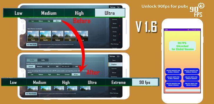 Fps tool : unlock 90fps الملصق