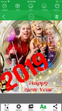 2019 Happy New Year Photo Frames & Picture Effects screenshot 2