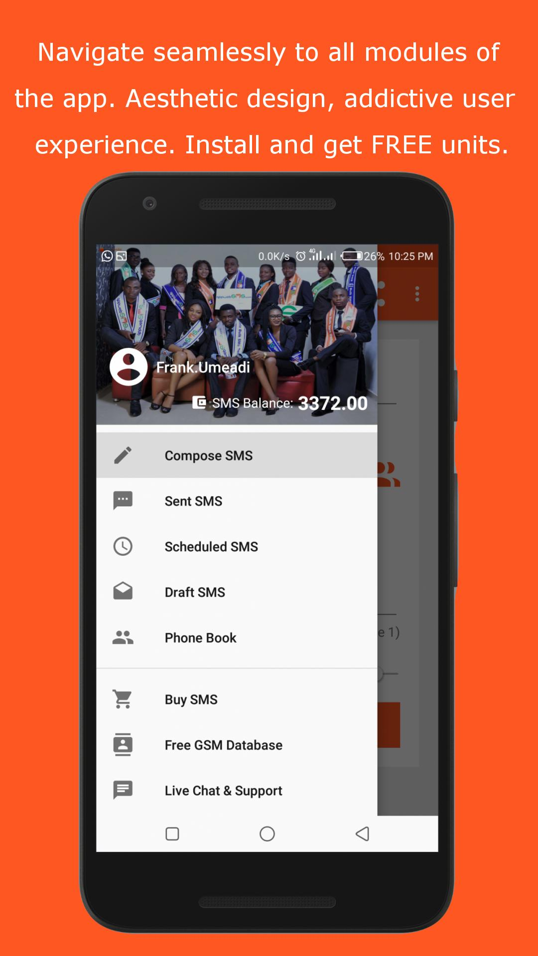 appwebSMS - Bulk SMS Nigeria Free Service Provider for Android - APK