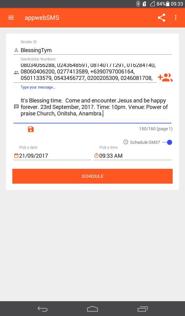appwebSMS - Bulk SMS Nigeria Free Service Provider for