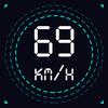 GPS prędkościomierz, Licznik odległości ikona