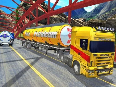 Offroad Oil Tanker Truck Transport Driver screenshot 16
