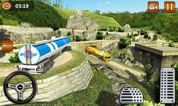Offroad Oil Tanker Truck Transport Driver screenshot 3