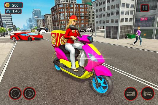 Moto Bike Pizza Delivery – Girl Food Game screenshot 5