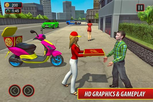 Moto Bike Pizza Delivery – Girl Food Game screenshot 8