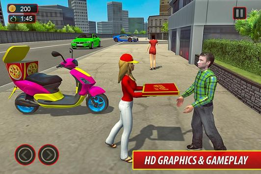 Moto Bike Pizza Delivery – Girl Food Game screenshot 13