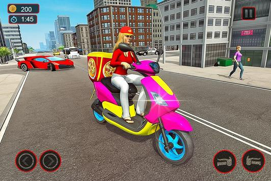 Moto Bike Pizza Delivery – Girl Food Game screenshot 10