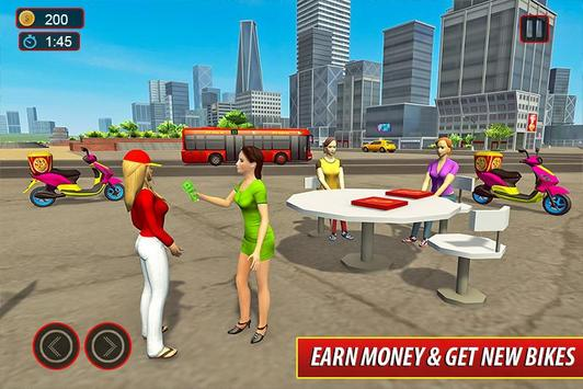 Moto Bike Pizza Delivery – Girl Food Game screenshot 1
