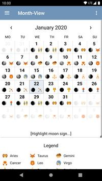 Moon Calendar - Moony screenshot 2