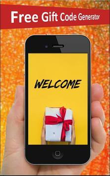 Free Gift Card Generator poster