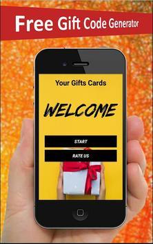 Free Gift Card Generator screenshot 1