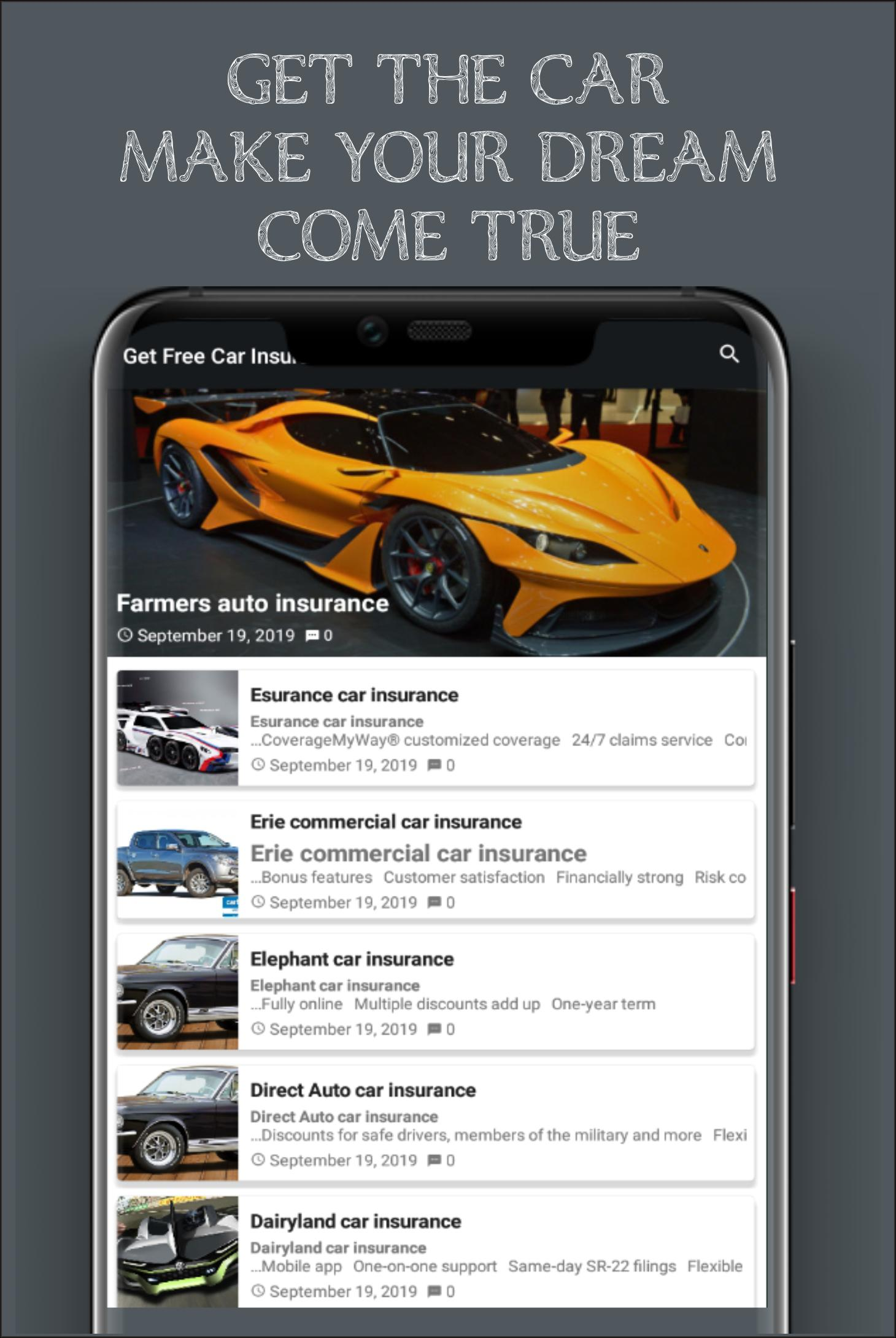 Erie Car Insurance >> Free Car Get Now Insurance Quotes For Android Apk Download