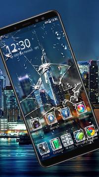 Broken Glass Launcher Theme Live HD Wallpapers poster