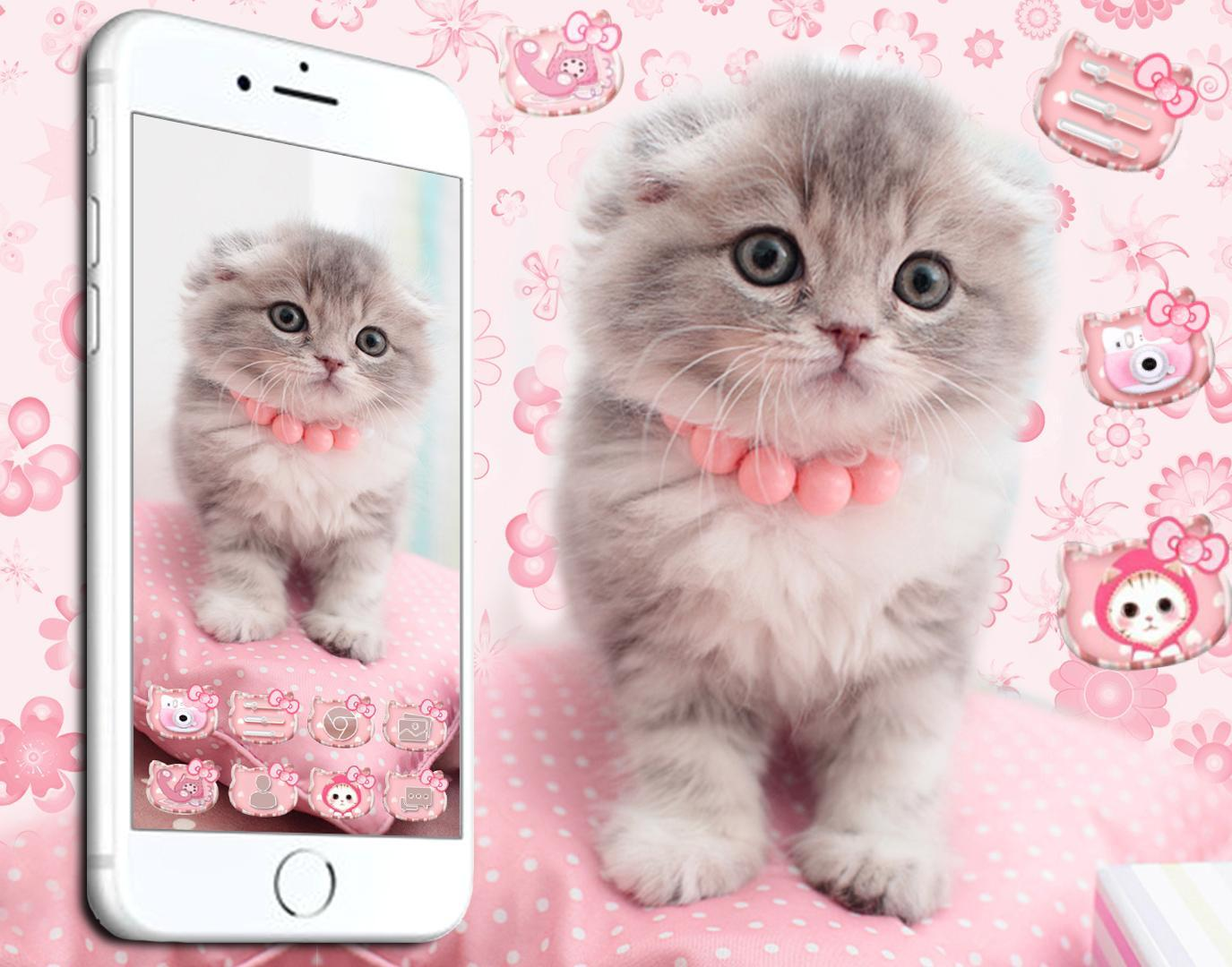 Cute Cat Live Launcher Theme 3d Wallpapers For Android Apk