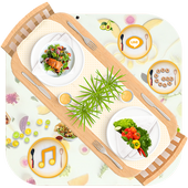 Delicious Food Launcher Theme Live HD Wallpapers icon