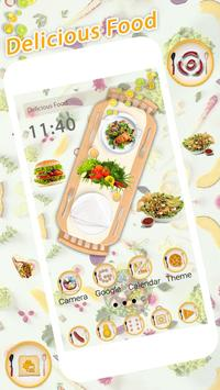 Delicious Food Launcher Theme Live HD Wallpapers poster