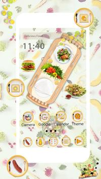Delicious Food Launcher Theme Live HD Wallpapers screenshot 1