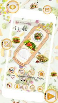 Delicious Food Launcher Theme Live HD Wallpapers screenshot 2