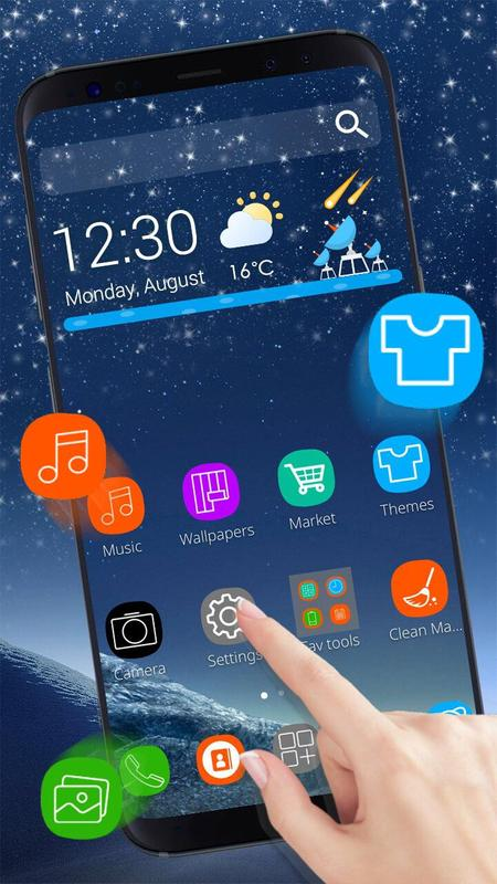 Galaxy S8 3d Launcher Theme Live Hd Wallpapers For Android Apk