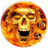 Scary Fire Skull icon