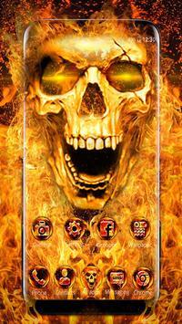 Scary Fire Skull screenshot 1