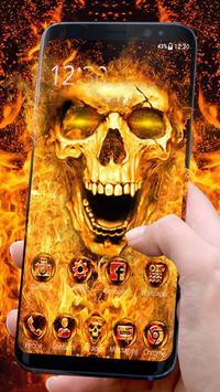 Scary Fire Skull screenshot 2
