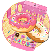 Sweet Cute Donut Launcher Theme Live HD Wallpapers icon