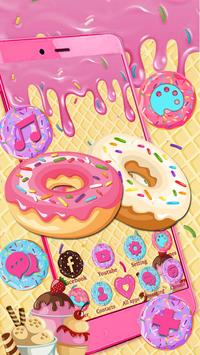 Sweet Cute Donut Launcher Theme Live HD Wallpapers poster