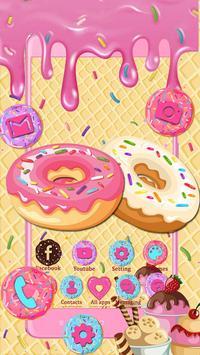 Sweet Cute Donut Launcher Theme Live HD Wallpapers screenshot 1