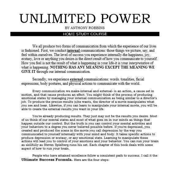 Unlimited Power By ANTHONY ROBBINS for Android - APK Download