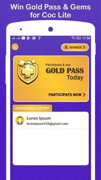 Win Gold Pass & Gems for COC Lite screenshot 3