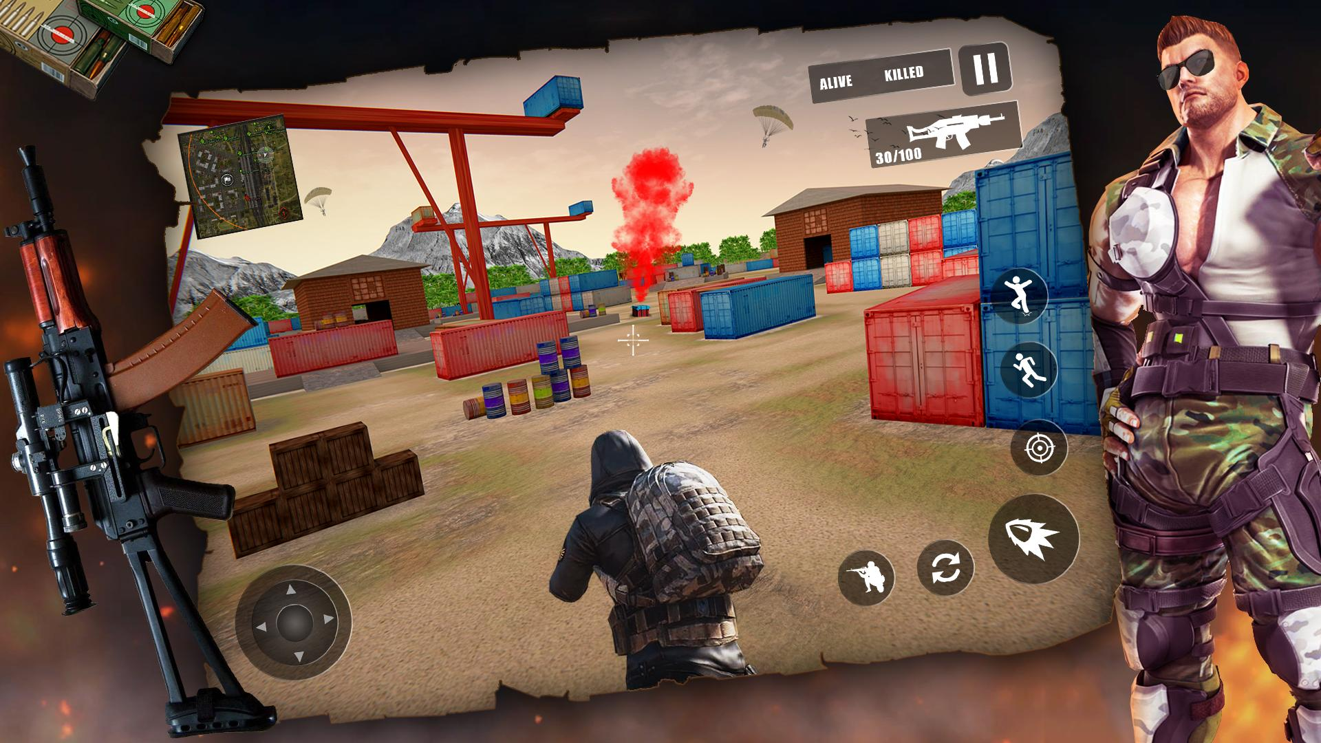 Free Firing Battleground Squad Firing Squad 3d For Android