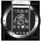 Black silver free watch theme icon
