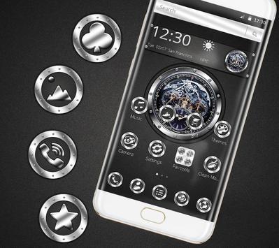 Black silver free watch theme screenshot 1