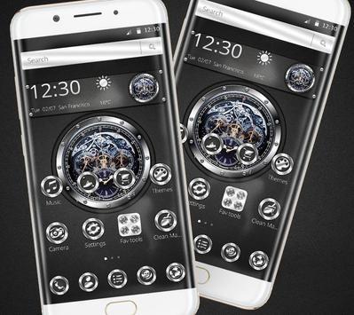 Black silver free watch theme screenshot 2