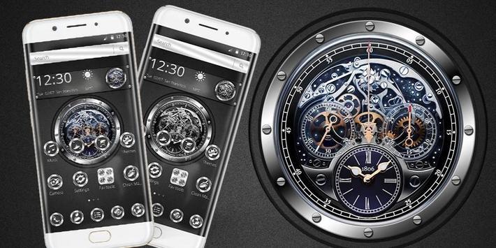 Black silver free watch theme screenshot 3