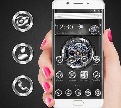 Black silver free watch theme screenshot 4