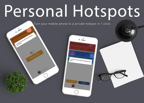 Free Wifi Connection Anywhere & Portable Hotspot تصوير الشاشة 7