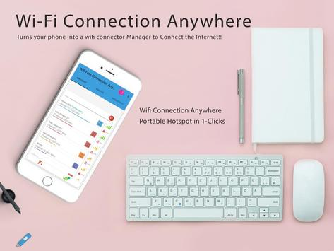 Free Wifi Connection Anywhere & Portable Hotspot الملصق