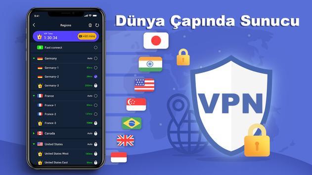 Free VPN Master - Sınırsız Ultra Hızlı Ekran Görüntüsü 4
