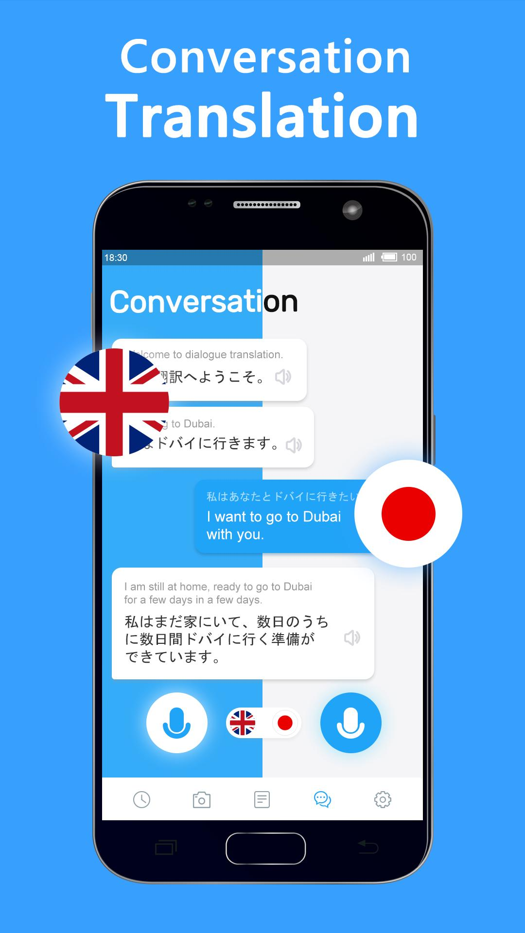 Translate Voice - Free Speech & Camera Translator for