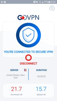 VPN free & secure fast proxy shield by GOVPN Screenshot 1