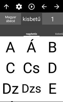 Hungarian Alphabet poster