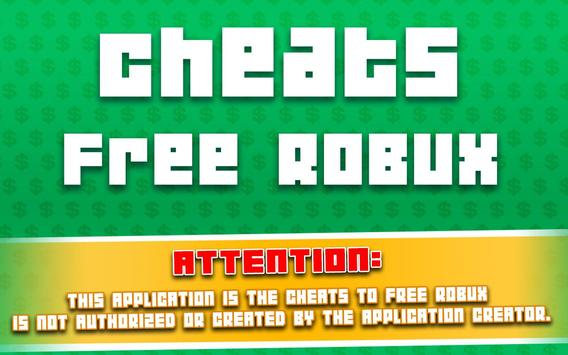 Free Robux Master for Roblox Counter Simulator poster
