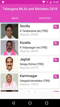 Telangana MLA\'s and Ministers 2018 screenshot 1