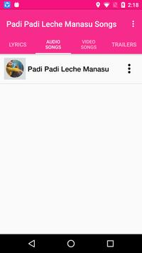 Padi Padi Leche Manasu Songs screenshot 1