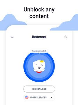 Hotspot VPN Gratuito e Navegação Privada Betternet imagem de tela 5