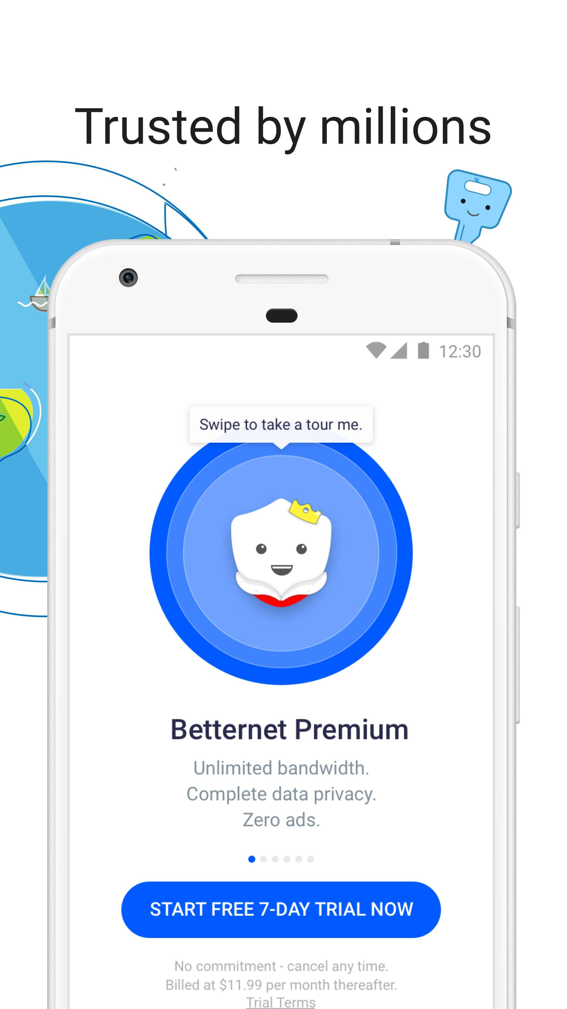 VPN Free - Betternet Hotspot VPN & Private Browser for