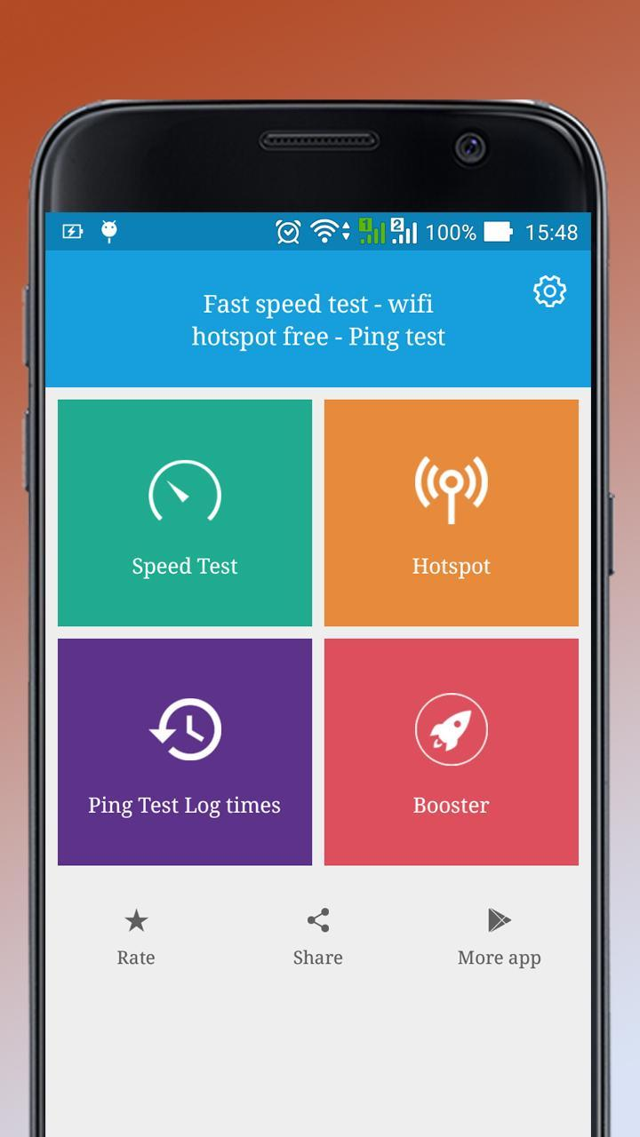 Fast speed test - wifi hotspot free - Ping test for Android