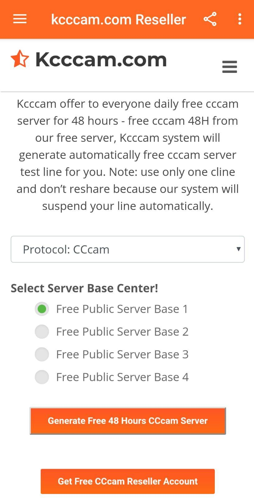 get your instant free cccam test line